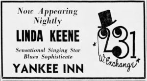 Linda Keene at the Yankee Inn