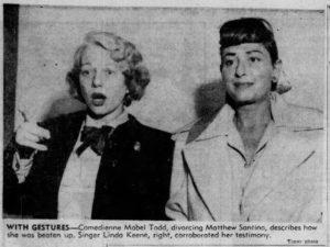 Mable Todd and Linda Keene
