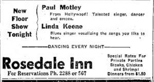 Linda Keene at the Rosedale Inn
