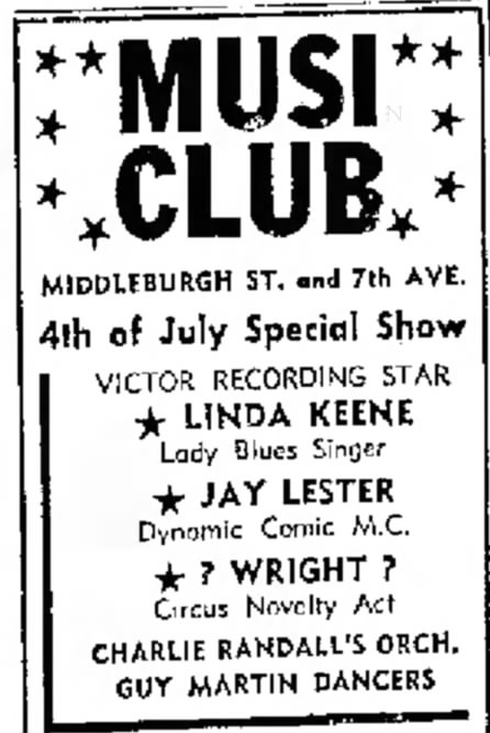 Linda Keene at the Musiclub in Troy, New York