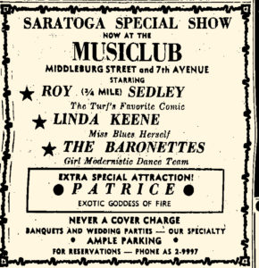 Linda Keene still at the Music-Club
