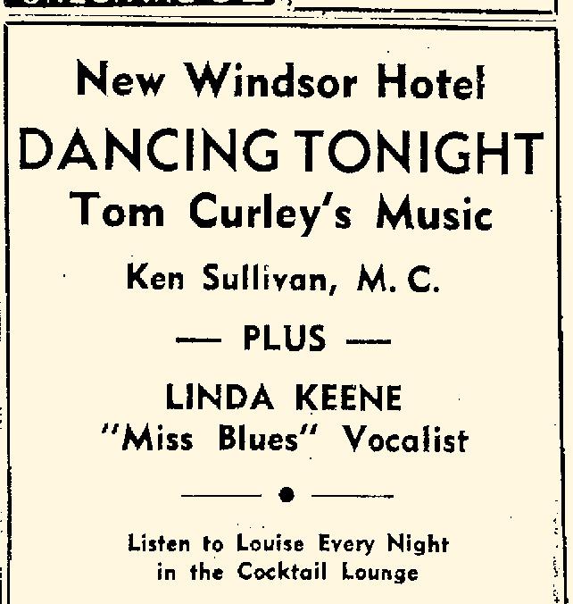 Linda Keene at the New Windsor Hotel in Oneonta, NY