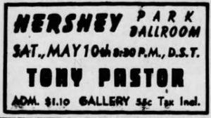 Tony Pastor at the Hershey Park Ballroom